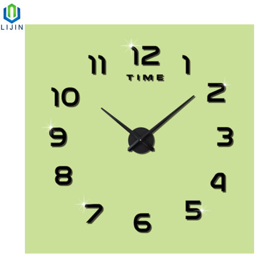 Creative Living Room DIY Acrylic Wall Clock European Simple Digital Wall Sticker Clock
