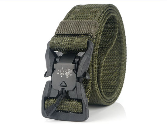 Heavy-Duty Quick-Release Plastic Buckle Tactical Military Style Webbing Belt