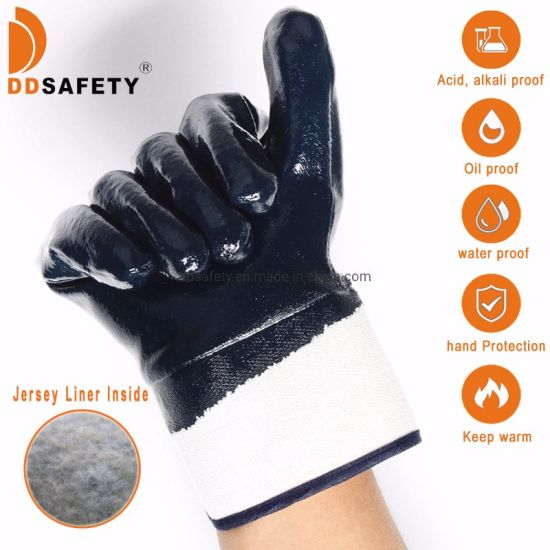 Heavy Duty Industrial Latex Rubber Gloves Acid Resistant Black 36cm Glove