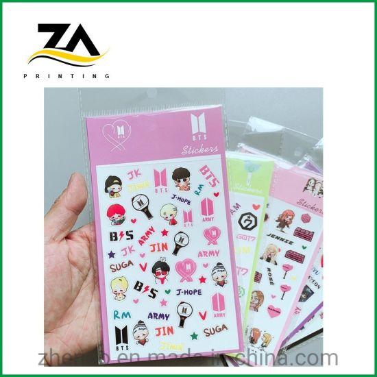 Rub Resistance Label Printing Printed Paper Decal Waterproof Self-Adhesive Sticker