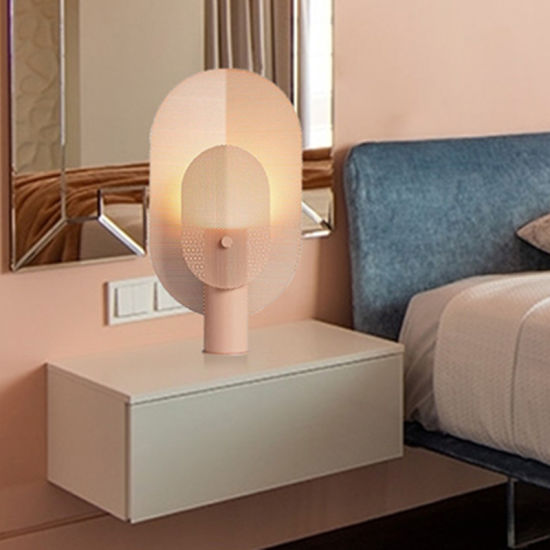 Nordic Post-Modern Minimalist Grid Wrought Iron Living Room Filter Table Lamp (WH-MTB-208)