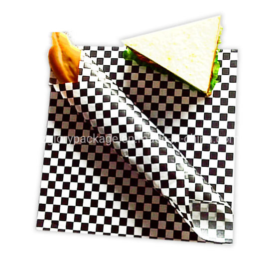 Burger Wrapping Paper Printed Greaseproof Mg White Sandwich Paper Wrap