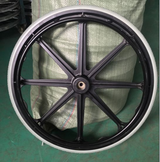 High-Quality Wheelchair Parts Steel 24X1 Wheelchair Wheel with Pneumatic Tires