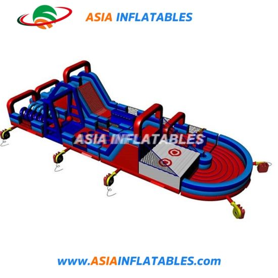 Children Inflatable Obstacle Courses Challenge for Outdoor Playground