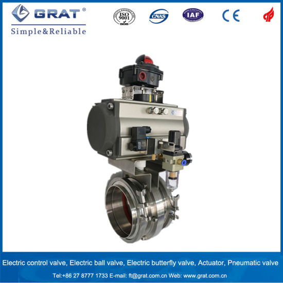 Sanitary Stainless Steel Automatic Control Butterfly Valve