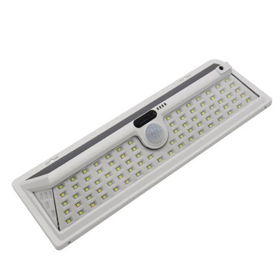 New 1000lm Garden Smart Battery Fixture IP65 Powered Outdoor Waterproof Solar Sensor Wall Light Outdoor Emergency Lamps
