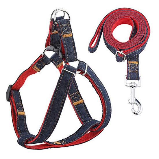 Adjustable High Quality Durable Heavy Duty Denim Dog Harness