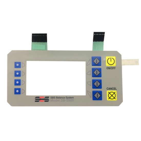 Multi-Media Control Membrane Switch with Transparent Window and LED