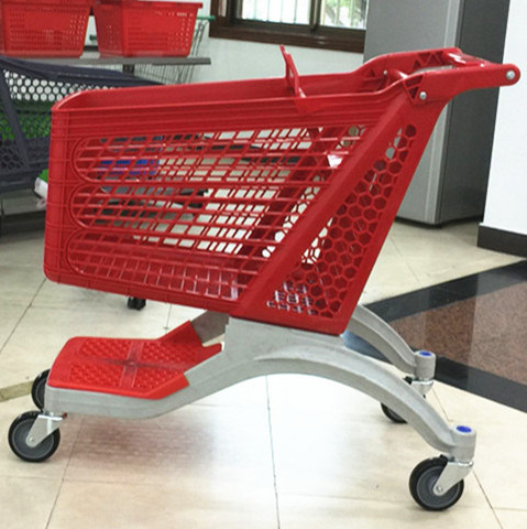 Supermarket Plastic Shopping Trolley New Style Full Plastic Cart pictures & photos