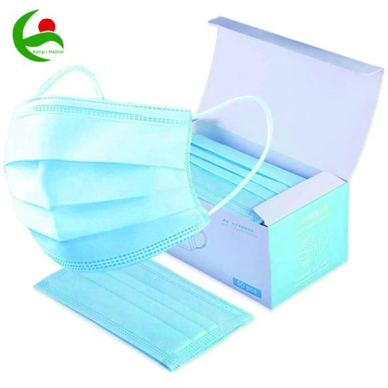 Factory Wholesale Disposable 3 Ply Protective Facial Face Type Iir Surgical Medical Mask