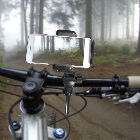 new styles d6623 a6a4c Universal Bicycle Phone Holder for iPhone X/6/7/8 Plus, Ideal for Road  Mountain Bikes