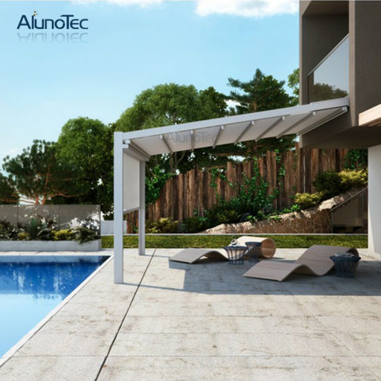Factory Wholesale Porch Awning Retractable Roof Awning for Swimming Pool