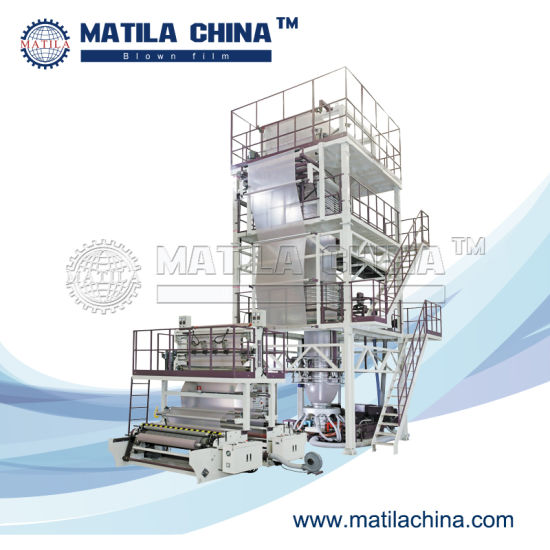 High Speed Three Layer Co-Extrusion ABC HDPE LDPE LLDPE Film Blowing Machine pictures & photos