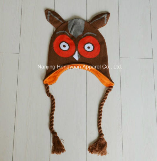High Quality Owl Hat Winter Hat Knitted Hat (HY17031528) pictures & photos