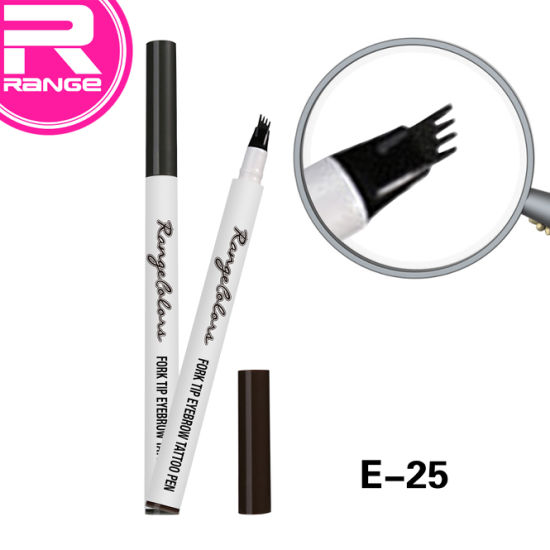 Newest Makeup Waterproof Fork Tip Tattoo Eyebrow Ink Cosmetics Pen with Fork Tip pictures & photos