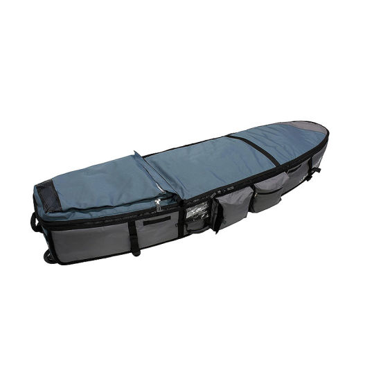 Durable Wheeled Coffin Surfboard Travel Bag for 2-4 Shortboards