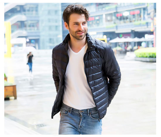 Hot Sale Fashion European Style Foldable Ultra Light Man Down Jacket For Winter