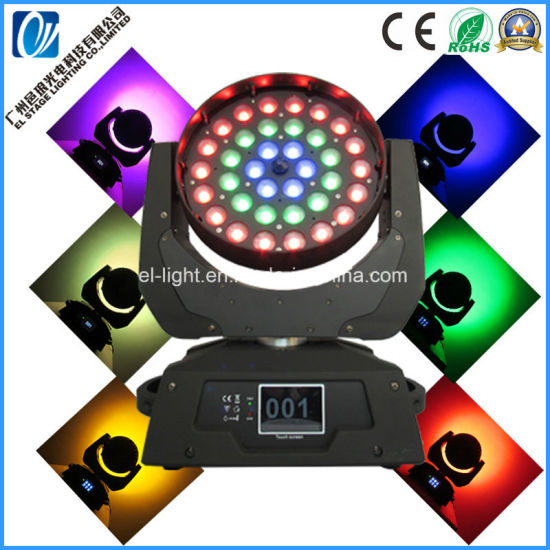 LED Stage Lighting 36PCS*15W 4in1 Beamwash Moving Head Light with Zoom From Guangzhou