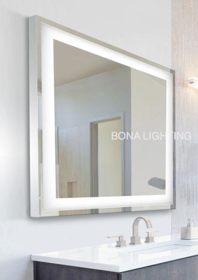 bathroom mirrors with led lights. ip44 led lighted vanity / bathroom mirror, 304 stainless steel frame mirrors with led lights