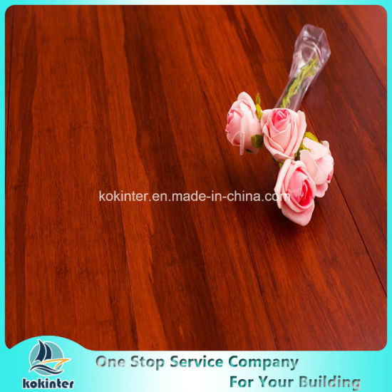 First Grade Indoor Usage Strand Woven Bamboo Flooring in Red Walnut Color and Cheap Price