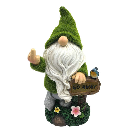 Custom Made Flocked Yard Decor Artificial Moss Finished Polyresin Figurine