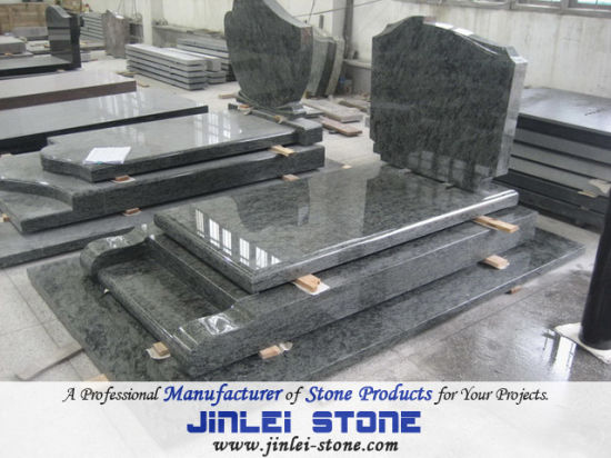 Polished Natural Light Grey Granite Headstone for Cemetry and Memorial