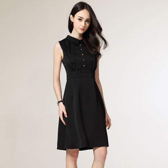 China Latest Office Wear Designs Sleeveless Formal Straight Dress Ladies Office Dresses China Woman Dress And Dress Women Price