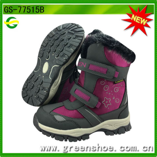 New Arrival TPR Sole Winter Snow Boots for Children Kids pictures & photos