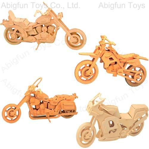 Wood Craft Model Motorcycle Construction Kit
