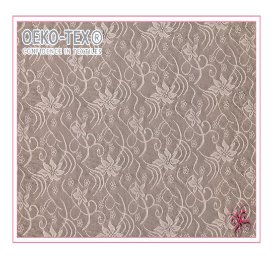 Stretch Spandex Nylon Flower Elastane Lace Fabric for Lingerie