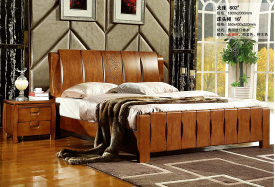 High Quality Bedroom Furniture, Wooden Bed, Hotel Bed (201) pictures & photos