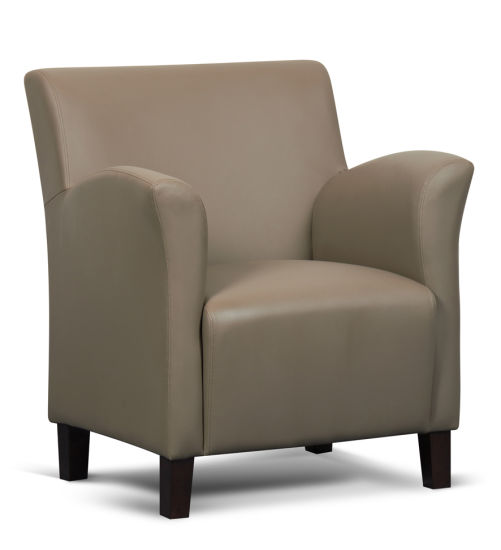 China Living Room Furniture Reception Single Faux Leather Tub Chair ...