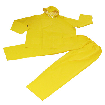 2 PCS Rain Suit 0.32mm PVC/Polyester