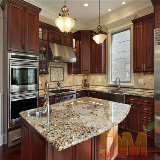 China Mocha Color Shaker Door Solid, Mocha Kitchen Cabinets With Granite