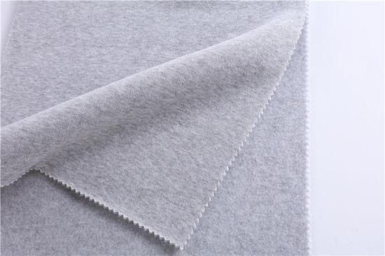 Factory Direct Sales of Staple Fiber Single Jersey, Hemp Gray Single Jersey Knitted Fabric, Autumn and Winter Fashion Sweater Fabric