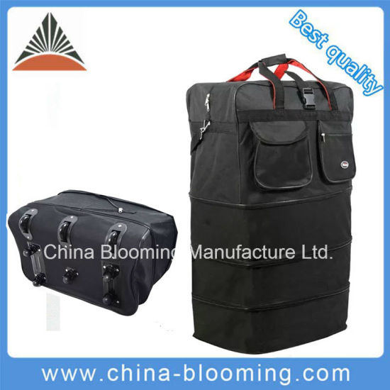 Lightweight Travel Outdoor Rolling Wheeled Suitcase Expandable Duffle Bag Luggage