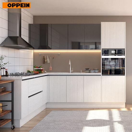 China Oppein Modular Kitchen Cabinets Type Kitchen Set With Discount
