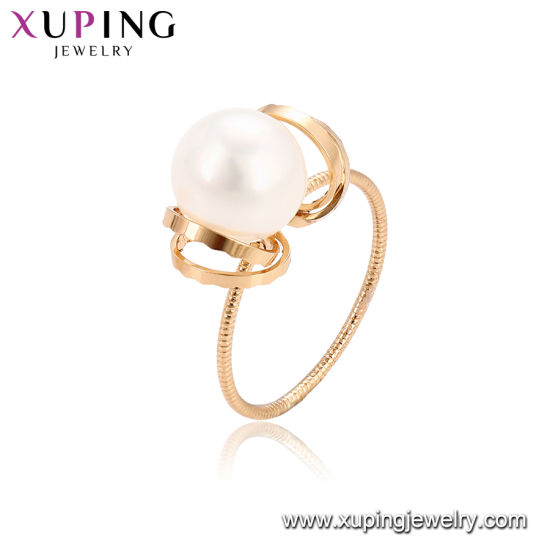 Best Quality Xuping Fashion Pearl Ring With 18k Gold Plated
