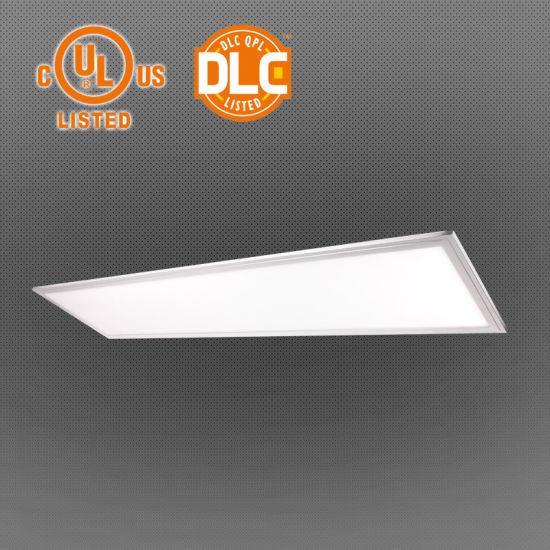 China UL Dlc No Flicker 130lm/W LED Panel Light, 2X2/1X4/2X4 - China
