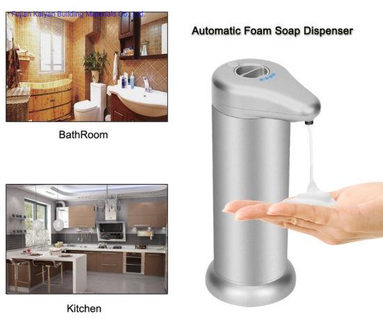 China Hot Selling Amazon Adjustable Mode Touch Less Aluminum Alloy Hand Free Automatic Sensor Foam Soap Dispenser 300 Ml China Foam Soap Dispenser Sensor Dispenser