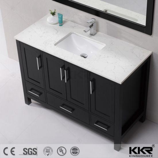 . Silestone Quartz Stone Vanity Top with Cabinet for Bathroom