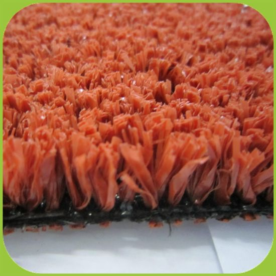 High Density Red Color Artificial Grass for Basket Ball Flooring pictures & photos