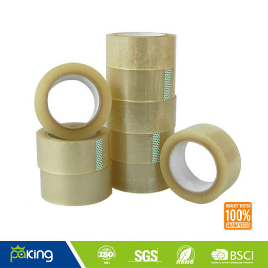 BOPP Film Packing Tape Roll with Brown/ Yellow Acrylic Adhesive pictures & photos