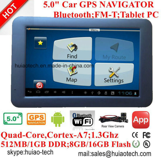 China 2018 Factory OEM Car Portable GPS Navigation System