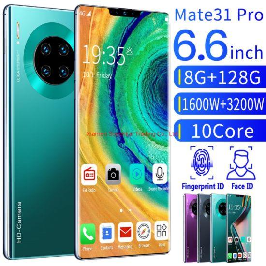 Wholesale Original Brand New Mate 31 PRO Smart Phone 6.6 Inch 8GB / 128GB 10 Core 4G Fingerprint Unlocking Mobile Phone SIM Dual Card Cell Phone