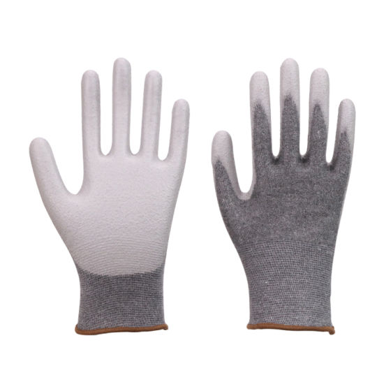 White PU Glove, Work Glove Electrical Work Safety pictures & photos