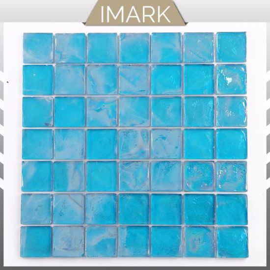 Cheap Price Blue Glass Mosaic for Swimming Pool Mosaic Tile