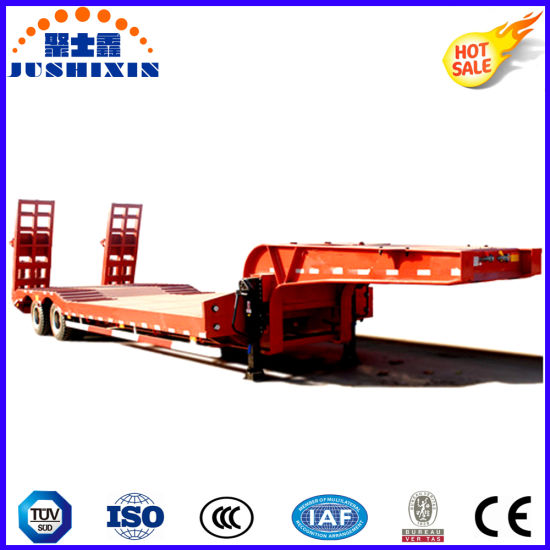 Heavy Duty 2 Axles 60ton Low Bed Semi Trailer Price pictures & photos