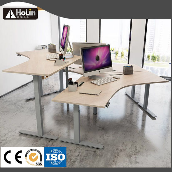 Home Office Desk Workstation System With Electric Height Adjustment