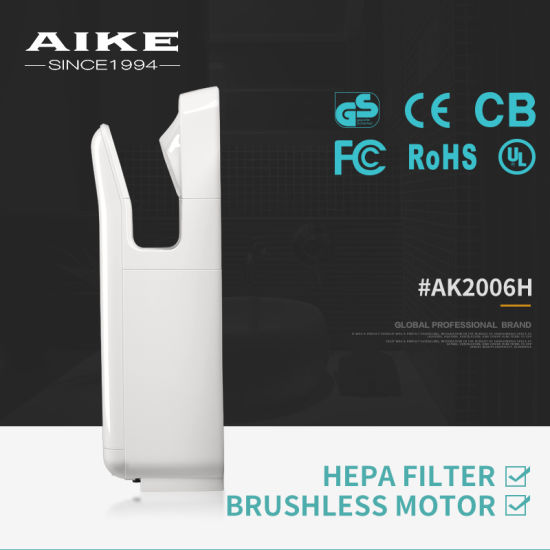 Double-Sided Airstream High-Speed Jet Hand Dryer with HEPA Fileter (AK2006H) pictures & photos